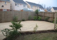 3. The finished decking